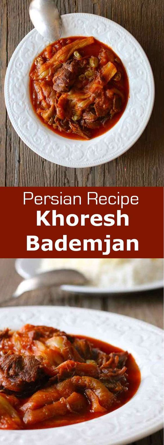 Khoresh bademjan is a deliciously balanced Persian stew that is prepared with eggplants, as well as lamb or beef and tomatoes