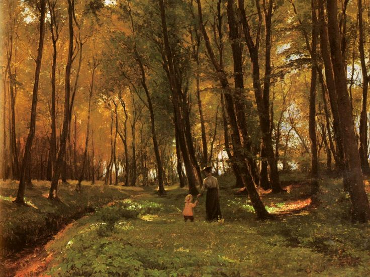 A Walk in the Woods, Edvard Frederik Petersen. Danish (1841 -1911)