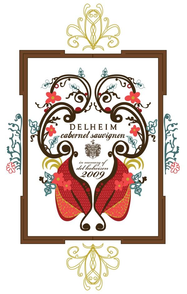 Wine Labels by Leah Kirsten, via Behance