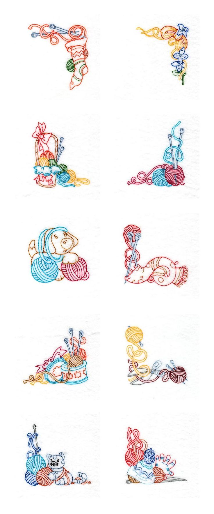 Colorwork knitting embroidery machine design details