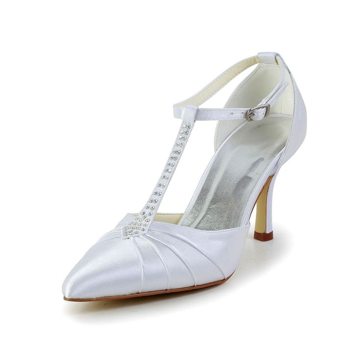 Silver Closed Toe Wedding Shoes