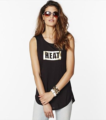 Bring on the heat! This black muscle tank is a must have for wearing on weekends.