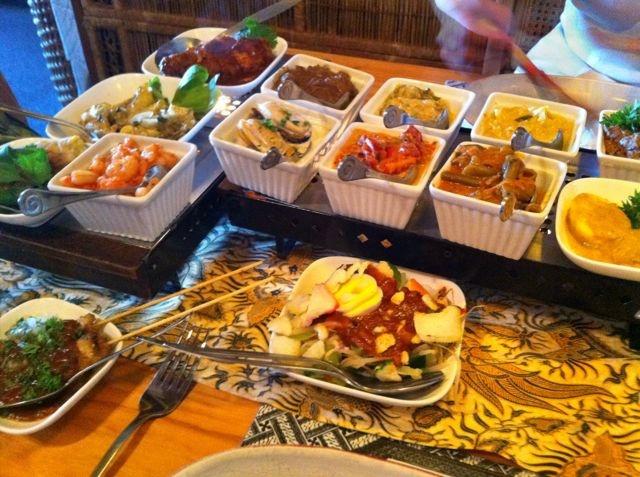 Rijstaffel from Restaurant Indonesia in Napier