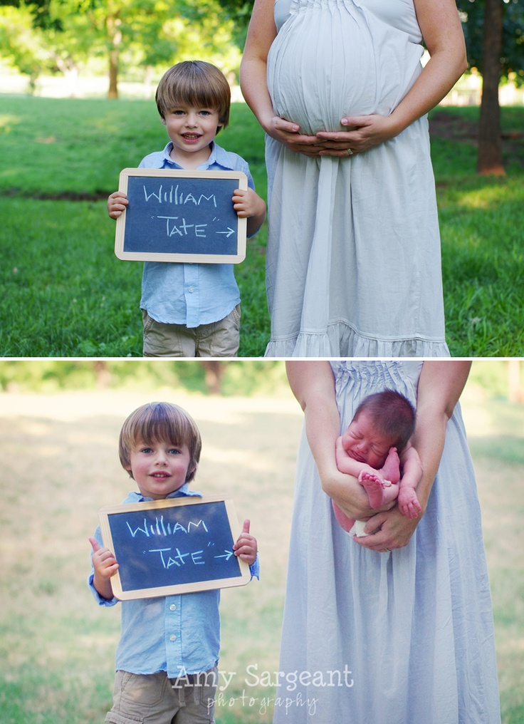 Someone has to let me take pictures of them like this! I love these photos with baby belly/baby on the outside! So cute to involve big brother, too! Wish I had seen this ~8 weeks ago!