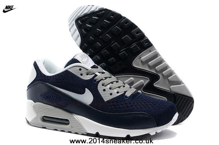 New Nike Store For Air Max 90 Premium EM Mens Trainers Dark Blue/White