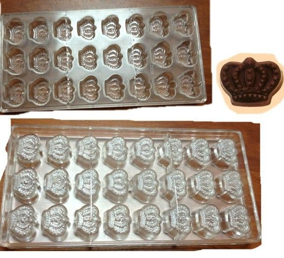 Imperial Crown Shaped Candy Molds Jelly Mould Plastic Baking Tray Polycarbonate Chocolate Mold-in Cake Molds from Home & Garden on Aliexpres...