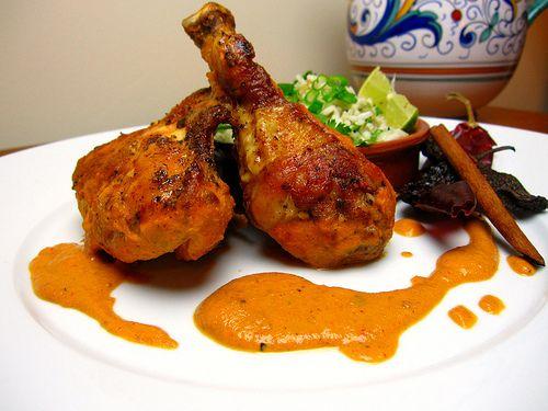 pollo en salsa de cacahuate!