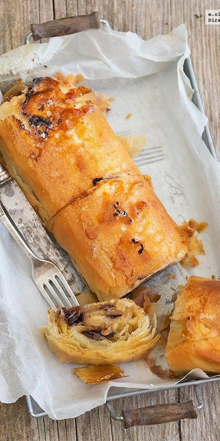 Strudel de manzana y chocolate [apple and chocolate strudel]