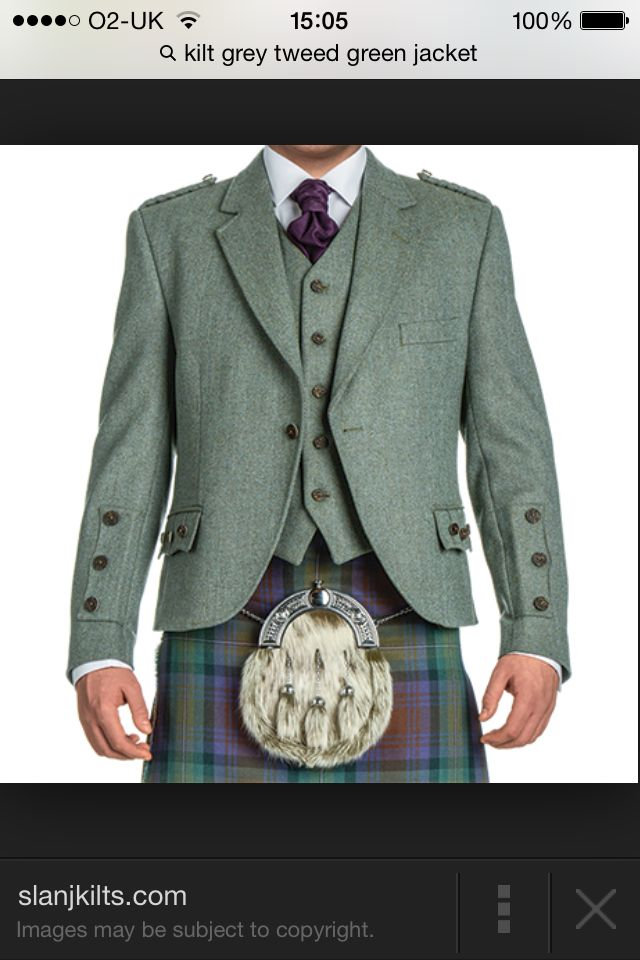 Green tweed kilt jacket