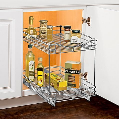 Lynk Roll Out Under Sink Double Drawers Bed Bath Beyond Cabinet Organization Cabinets Organization Sliding Shelves