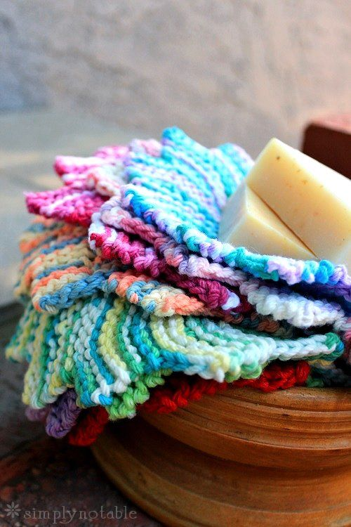 This washcloth pattern is our most popular pattern. A set of these would make a perfect housewarming gift.
