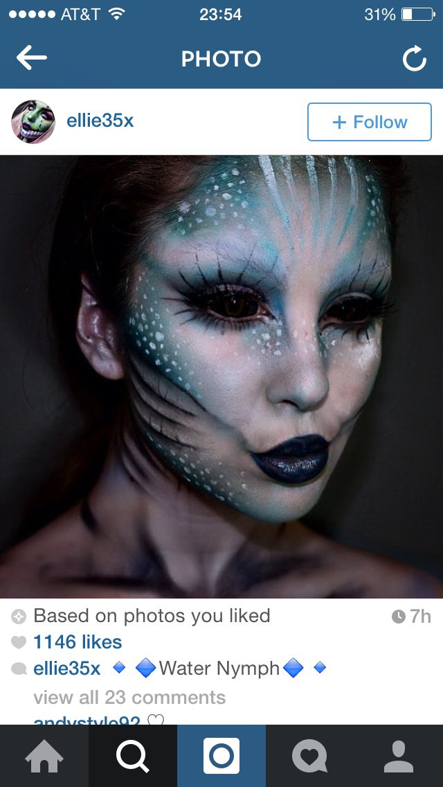 Scary mermaid ..add hook in cheek