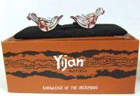Yijan design Cufflinks - Kangaroo (Red)  Chrome plated base with cufflink box dimensions:  2cm x 1.4cm made in China  Price:  $18.00 Code:  CUFF-YIJR