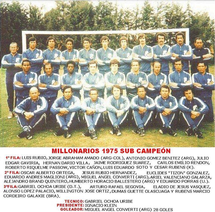 Millonarios subcampeón 1975