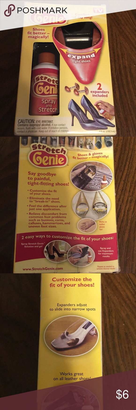 As Seen On TV! Stretch Genie Shoe Stretcher NIB! Stretch Genie Shoe Stretcher NIB! Give your shoes some stretch with this As Seen On TV product! As Seen On TV Shoes