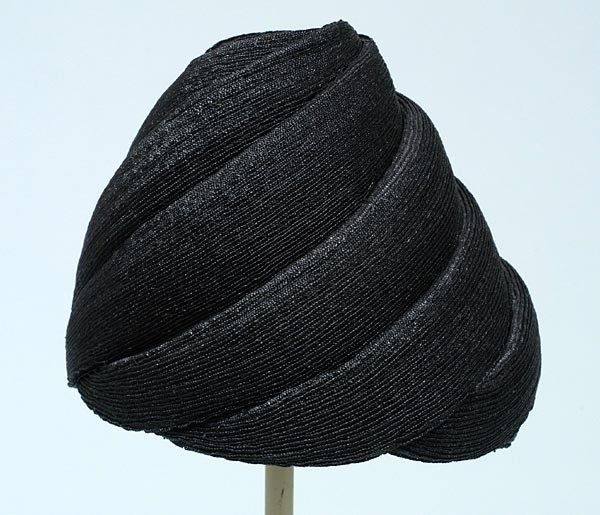Hat, Otto Lucas, England: ca. 1955, straw.