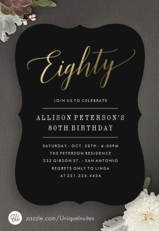 80th Birthday Invitations                                                                                                                                                     More