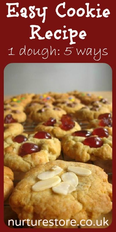 The perfect recipe for Christmas cookies - make one batch and add in 5 different flavors.