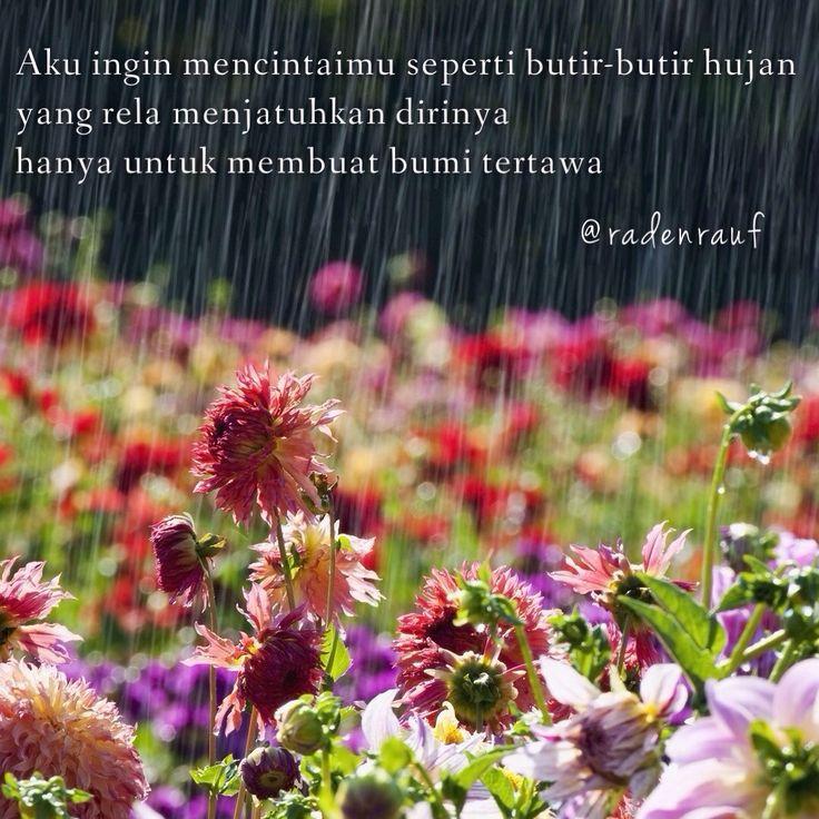 Aku ingin mencintaimu seperti butir-butir hujan...