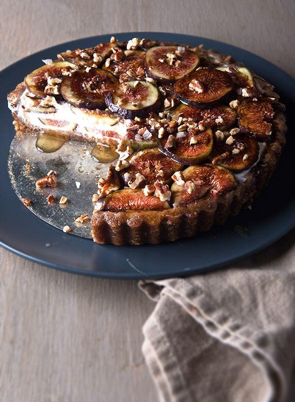 kefir tart tarts and pies tarts cakes tart fresh fresh figs honey ...
