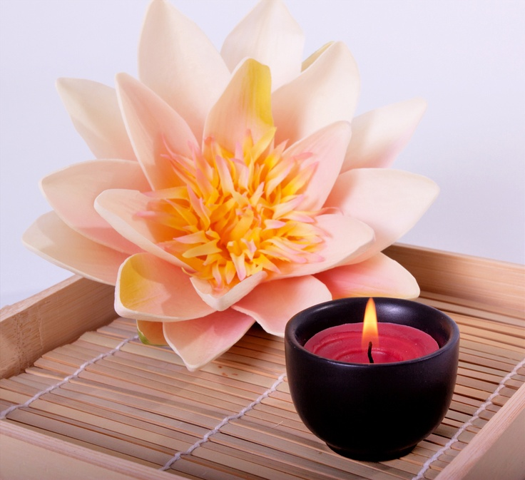 Pink Therapy Flower Candle