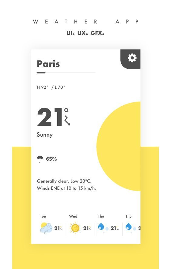 """Check out my @Behance project: """"Weather app UI/UX"""" https://www.behance.net/gallery/46738897/Weather-app-UIUX"""