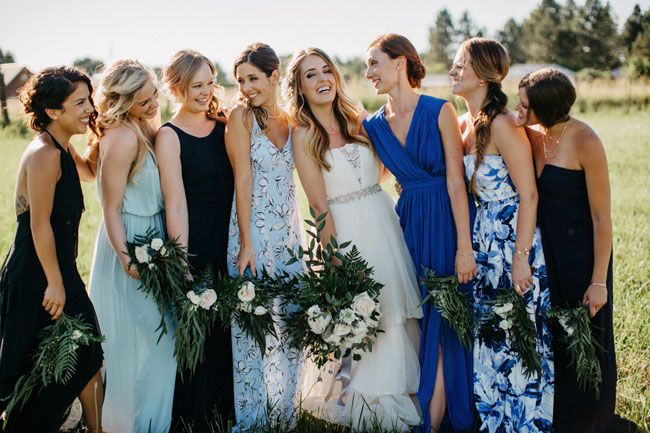 25+ Best Ideas About Patterned Bridesmaid Dresses On