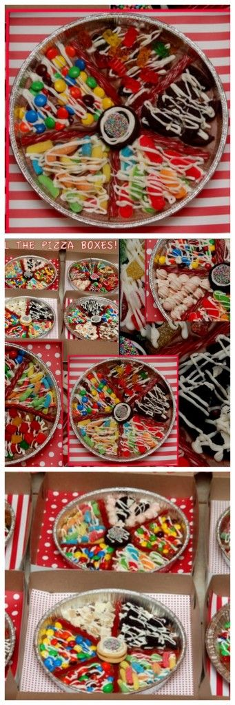 CHOCOLATE CANDY PIZZAS