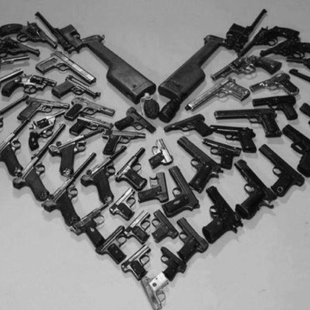 Babe dont worry i hold your heart in one hand and your gun in the other i got you amor