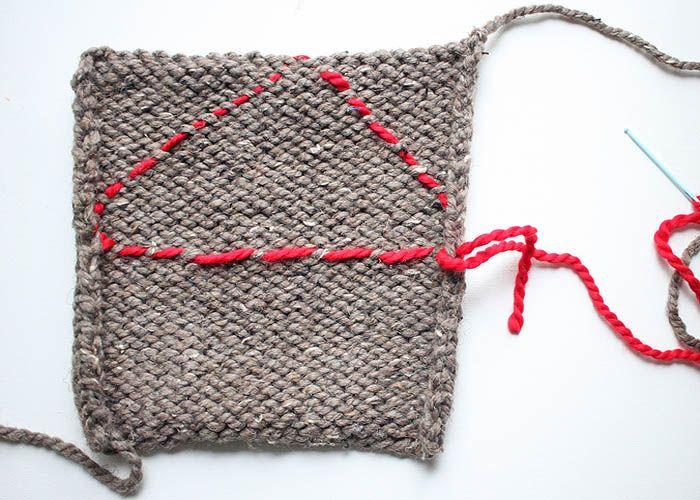 One Square Stuffed Bunny beginner knitting pattern