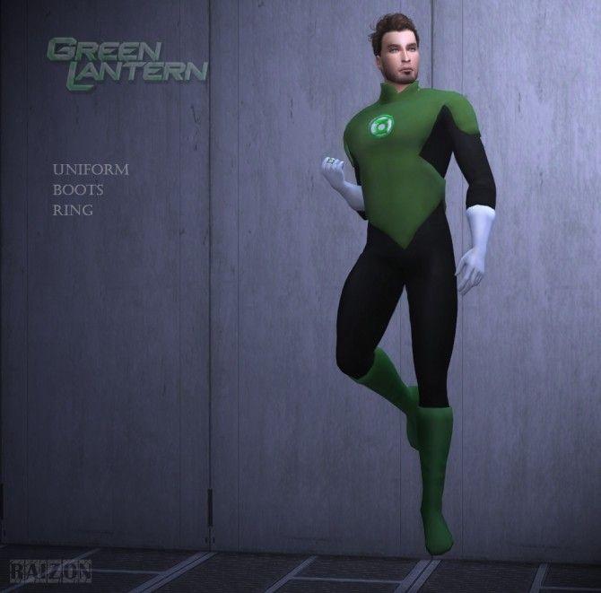 Green lantern uniform, boots, ring at Rumoruka Raizon ...