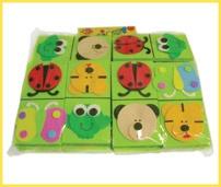 Domino de animales con goma eva