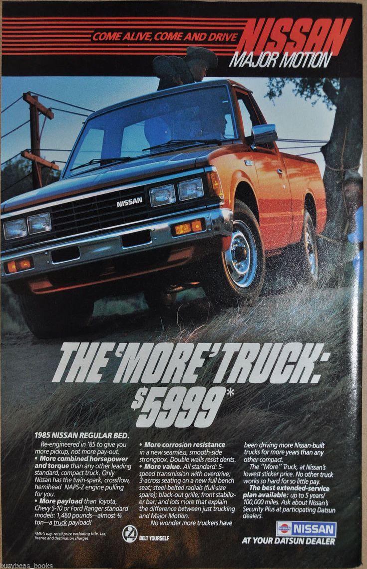 1985 Nissan Pickup Truck Advertisement Datsun Regular Bed Pickup Truck | eBay