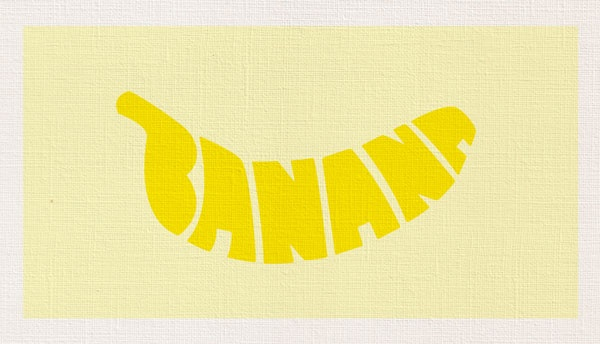 Banana typograhy