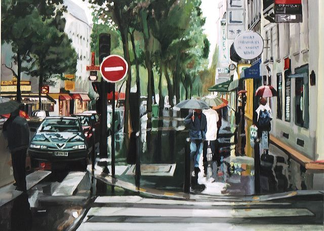 ©Marc Goldstain rainy day Paris