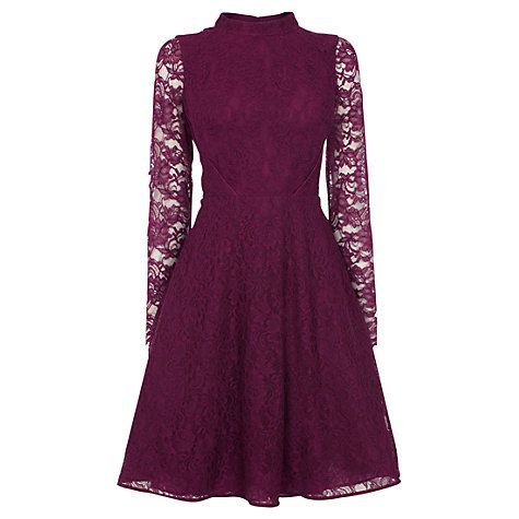 Buy Coast Arabella Lace Dress, Mulberry Online at johnlewis.com