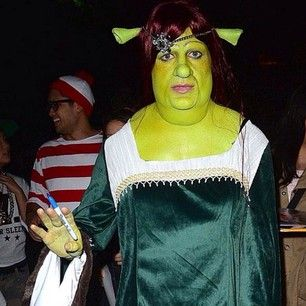 """And this is Colton Haynes dressed as Princess Fiona from Shrek. 