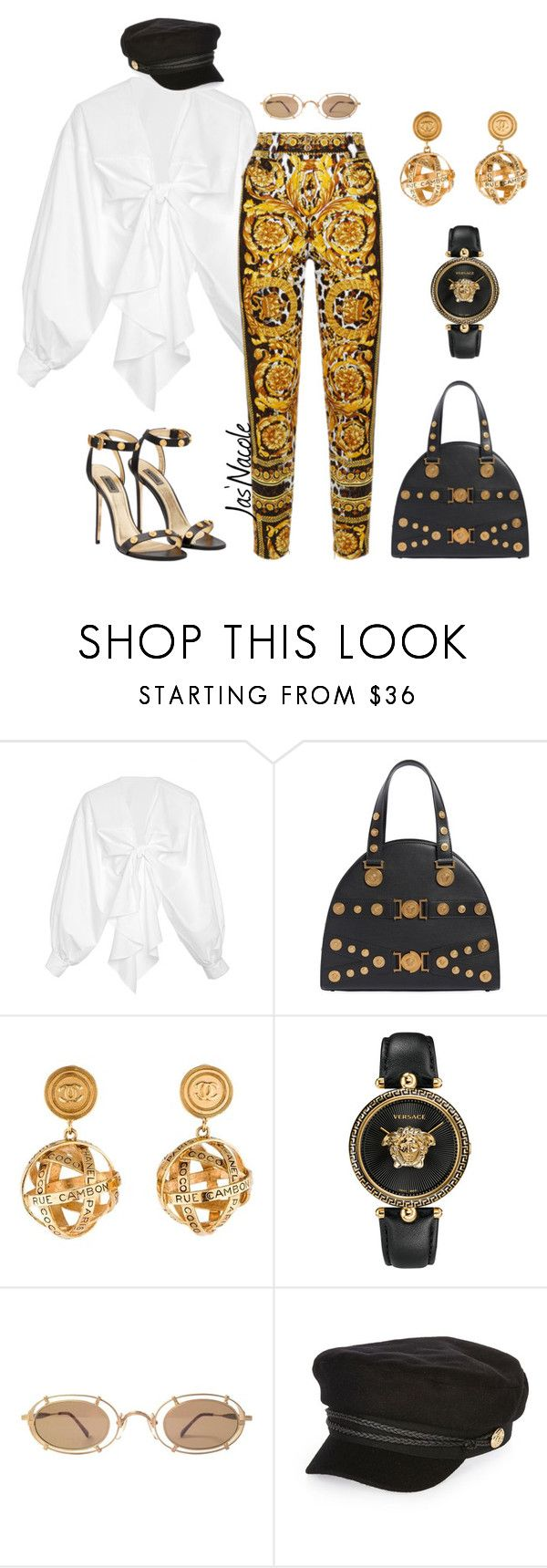 """Jas'Nacole1169"" by jasnacole ❤ liked on Polyvore featuring Johanna Ortiz, Versace, Chanel and River Island"