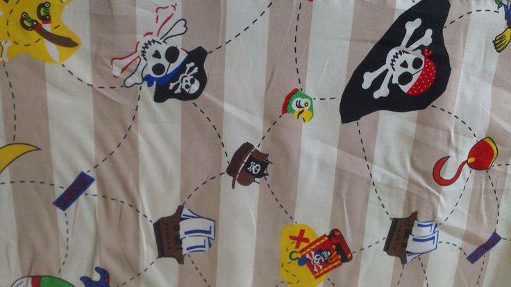 Cream Stripe Pirate - 100% Cotton