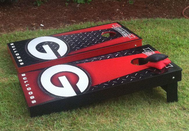 UGA bulldogs cornhole boards