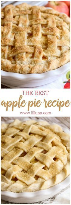 The BEST Homemade Apple Pie recipe - the crust is so flaky and delicious and the apple filling is so YUMMY!!