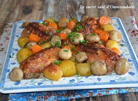 délicieuses cuisses de poulet farcies au veau