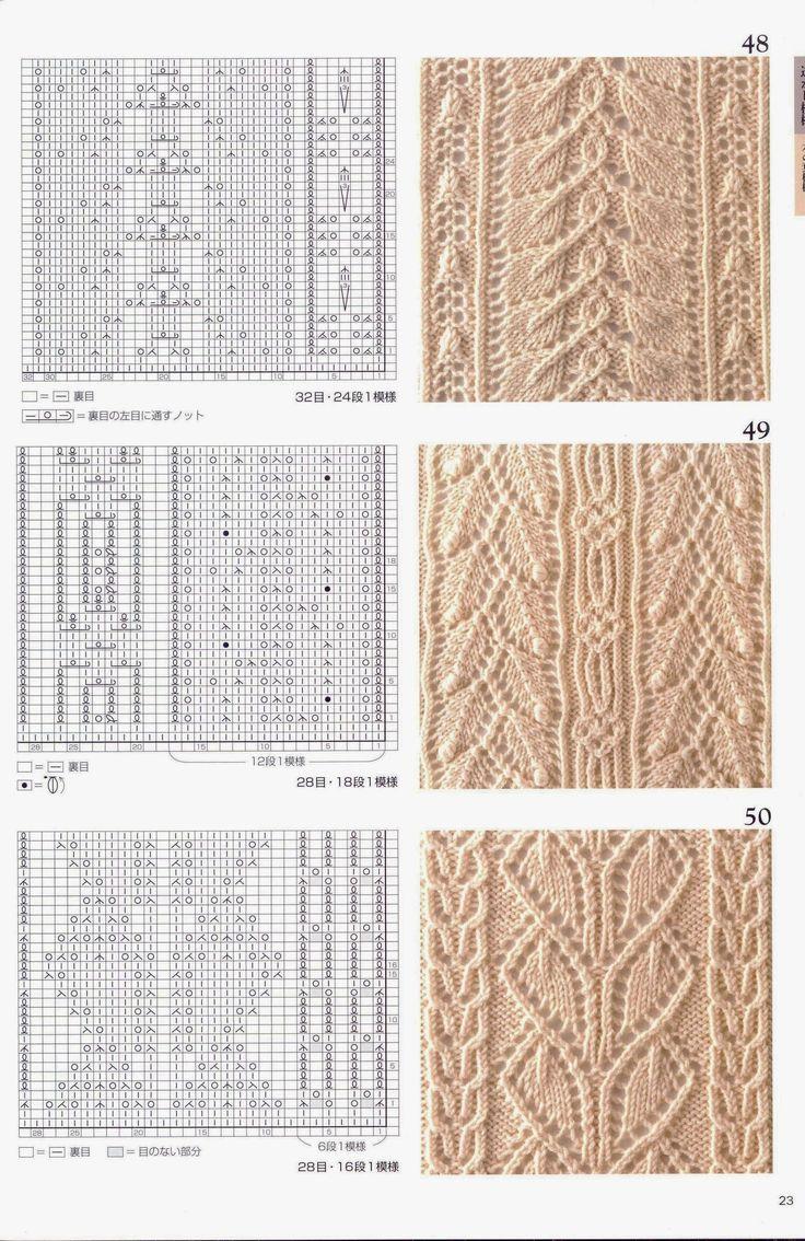 Много разных узоров. Японские ажурные узоры для сайта *Модное вязание* - часть №2, http://modnoevyazanie.ru.com/