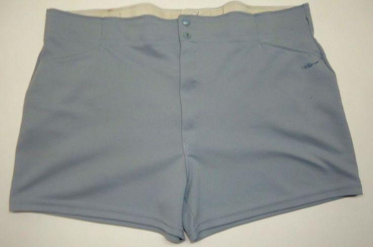 Vintage Spalding Classic Men's Softball Gray Shorts XXL 44-46 GPB J314 #Spalding