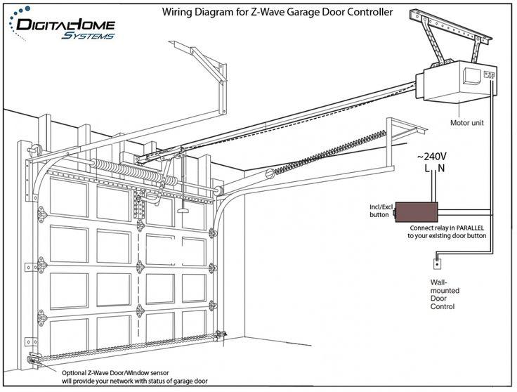 garage door button wiring diagram