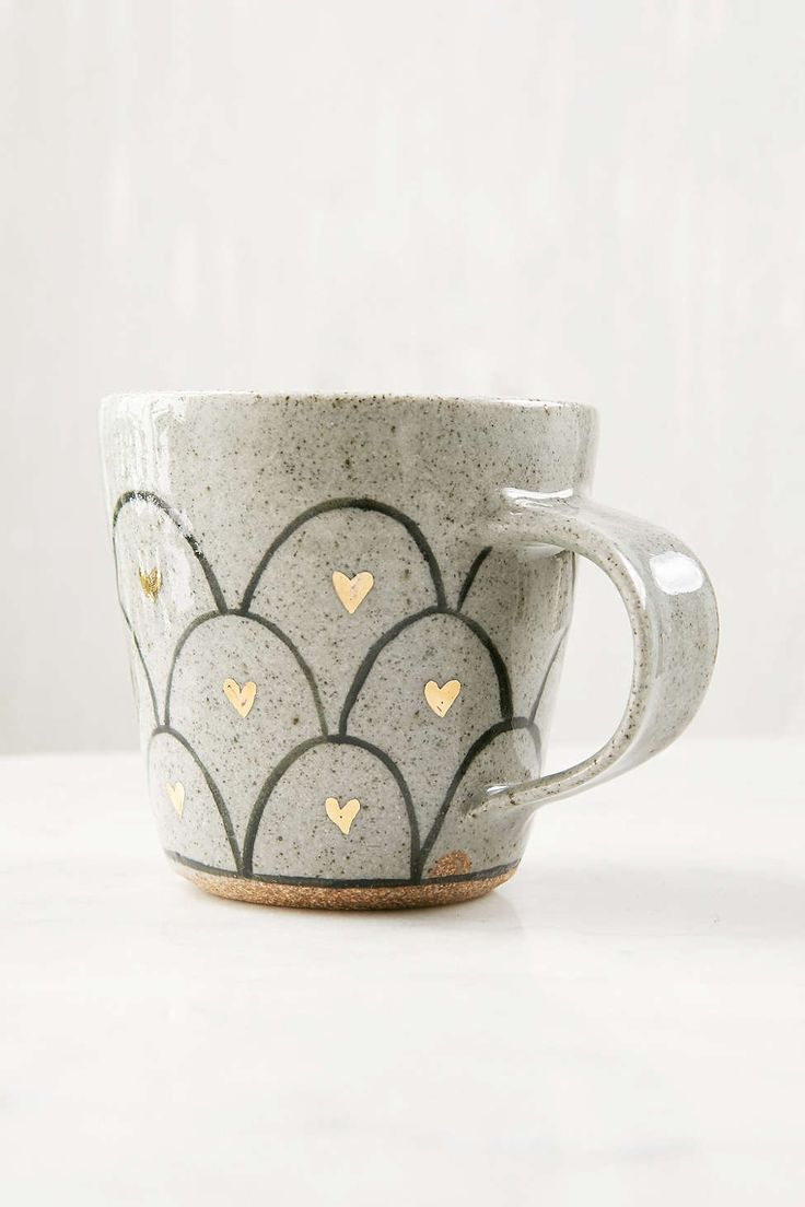 Pickle Pottery Heart Loop Mug