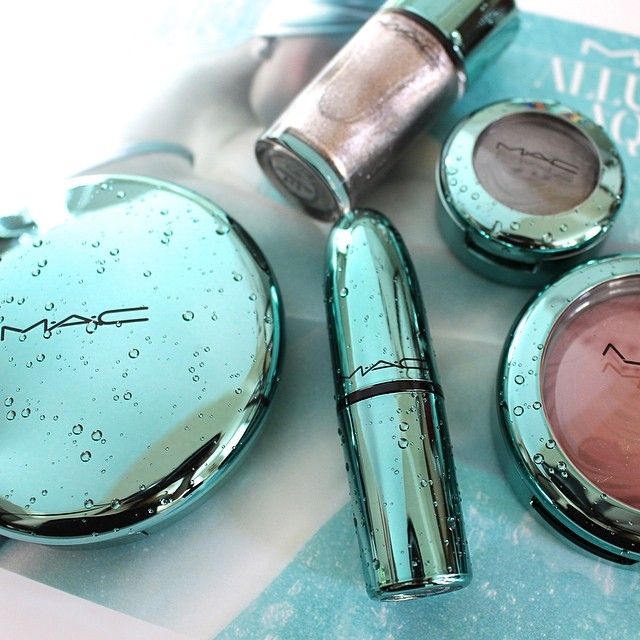 makeupbytiffanyd MAC Alluring Aquatic is on the blog!! Obsessed with this packaging...  so crazy how it actually looks like real water dropl...