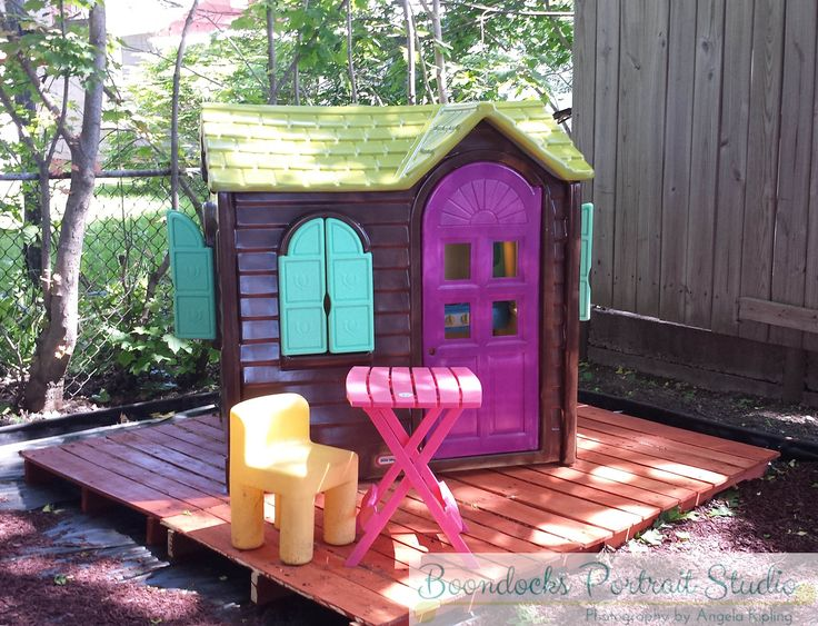 Kids playhouse remodel backyard makeover with elbow grease and Krylon fusion spray paint