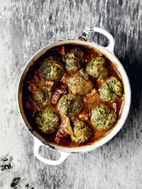 Venison stew with nettle dumplings