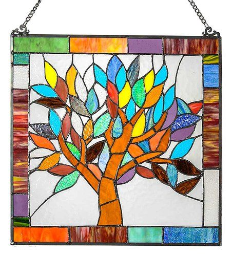 River of Goods Stained Glass Mystical World Tree Window Panel | zulily